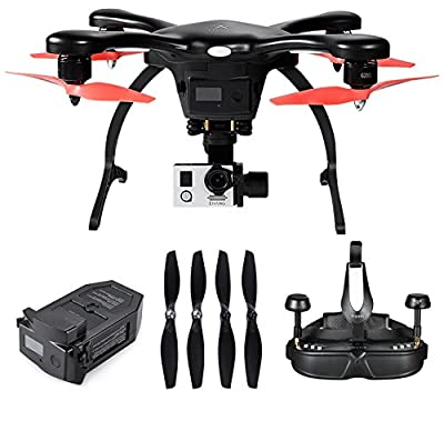Ehang GHOST DRONE 2.0 AERIAL BLACK with Ehang 4K camera,VR Glasses(Android,Black) +extra Battery +extra propeller set