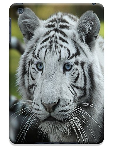 Fantastic Faye Cell Phone Cases For Ipad Mini No.20 The Special Design With Cute Foolishly Gray Pure Tiger On The Water Grass