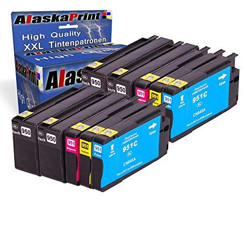 Premium 10er Set Kompatible Tintenpatronen Als Ersatz für Hp 950XL + HP 951XL mit Chip und Füllstandsanzeige für OfficeJet Pro 10x950- 951-hp