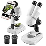 Landove Stereo Microscope - Science Lab 3D scope - 20X 40X Magnifications -Capture Beauty in the MicroWord with Smartphone Adaptor