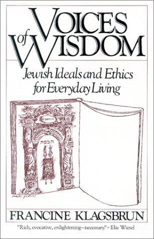 Voices of Wisdom, by Francine Klagsbrun