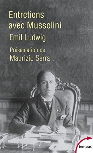 Entretiens avec Mussolini francais