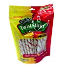 DINGO Twist Treat Sticks Chicken-Filled Rawhide Chews 99044-15G