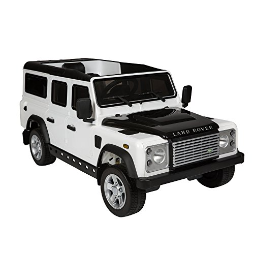 aosom 12v land rover defender kids electric ride on car with mp3 and remote control white little kid cars
