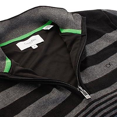 Calvin Klein Golf Men's CK Stripeblock Lined Sweater - US L - Black