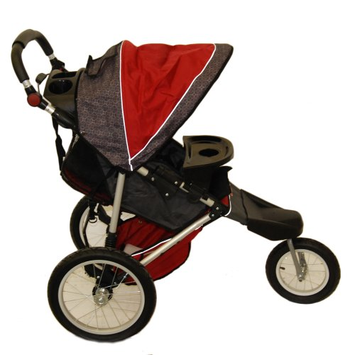 Schwinn Free Wheeler Jogging Stroller (Red/Black)