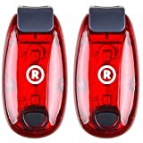 Raniaco 2-Pack LED Safety Flashing Lights for Running,Dog Walking and Cycling- Red