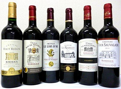 セレクション 金賞受賞酒 フランスボルドー赤ワイン 赤ワイン6本セット750ml×6本