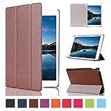 iPad pro ケース Vikoo Apple iPad pro  スタンドケース 三つ折 カルスト紋 PUレザータブレット保護ケース (iPad pro, ブラウン)