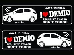 デミオ DE系 リメイクラブセキュリティステッカー