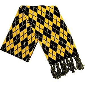 Scarf Black & Gold Argyle at SteelerMania