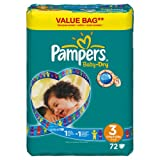 Pampers Baby Dry Windeln Gr.3 Midi 4-9kg Value Bag, 72 St�ck