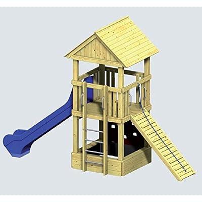 Winnetoo PRO Komplettanlage 1 – 5124 – Spielturm DIN EN 1176 öffentlich inkl. Rutsche blau günstig bestellen