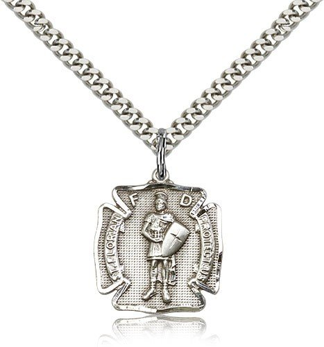 St. Florian Medal, Sterling Silver