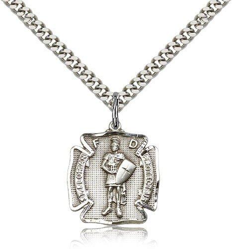 St. Florian Medal, Sterling Silver