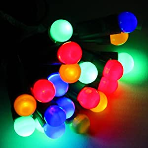 100 multi colour led christmas berry lights string with chasing