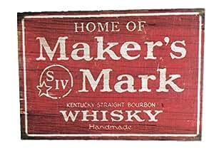 Maker's Mark Wooden Pub Sign