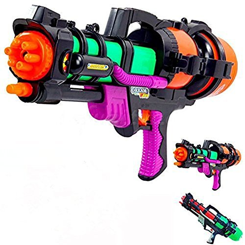 Huge Big Super Shoot Soaker Squirt Games Water Gun Pump Action Water Pistol Great for Kids HaveFfun in Hot Summer (Fire Hose Super Soaker compare prices)