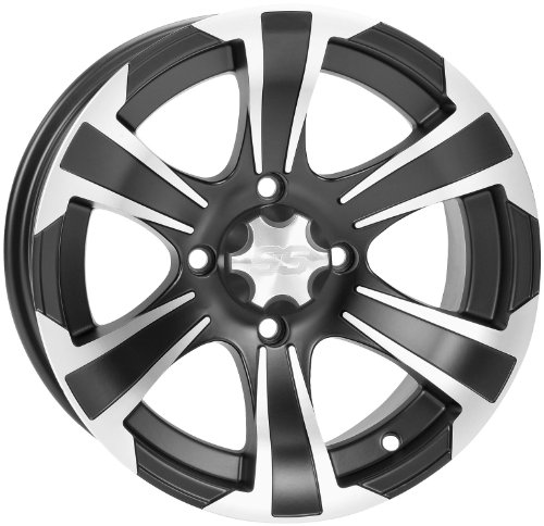 ITP SS312 Wheel - 14x6 - 4+2 Offset - 4/137 - Matte Black/Machined, Wheel Rim Size: 14x6, Rim Offset: 4+2, Color: Black, Bolt Pattern: 4/137 1428452536B