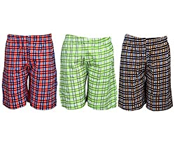 Spictex Boys' Cotton Shorts (Pack Of 3) (SPIC-CT142-PC3-03_Multicolor_4 Years - 5 Years)