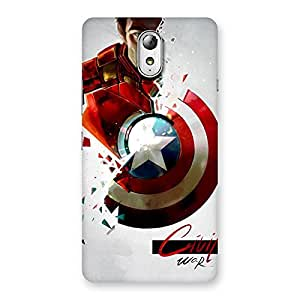 Stylish CV War Multicolor Back Case Cover for Lenovo Vibe P1M