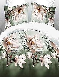 N&XI&J baolisi? 3D Fashion Comfortable Floral Print Bedding Four Piece