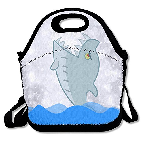 [Oery Shark Big Mouth Bento Lunch Bag Portable Cooler Tote] (Make Lego Costume Legs)