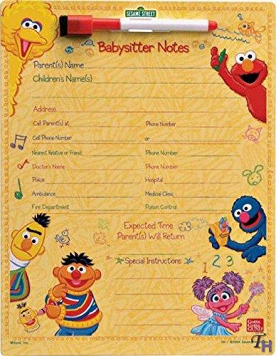 Gund Sesame Street Babysitter Notes Magnetic Wipe-Off Board