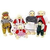 Toys Pure So204 - Familia de Muñecos con Extremidades Articuladas