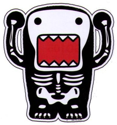 Domo-Kun Skeleton Bones Car Magnet