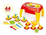 Dolu Kids 44 Pieces Pretend Play Kitchen Cooking Food Play Set With Table