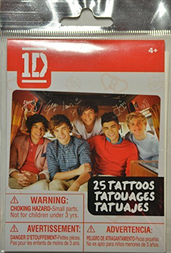 One Direction - 25 Temporary Tatoos