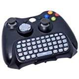 ZhiZhu® Black Wire/Wireless Controller Messenger Keyboard Game Chat Pad Chatpad Keypad For Xbox 360