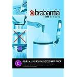 Brabantia 361982, Sacchetti Pezzi 40 da 12 Litri in Dispenser, Codice C, Bianco