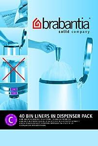 Brabantia Bin Liner C, 10-12 Litre - 40 Bags