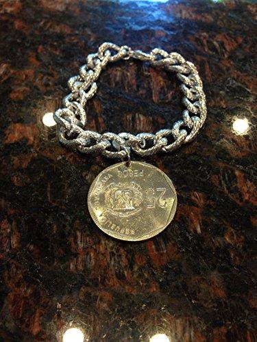 Dominican Republic 25 pesos coin bracelet