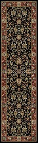 Kashmir Sarouk Black Rug 7'10