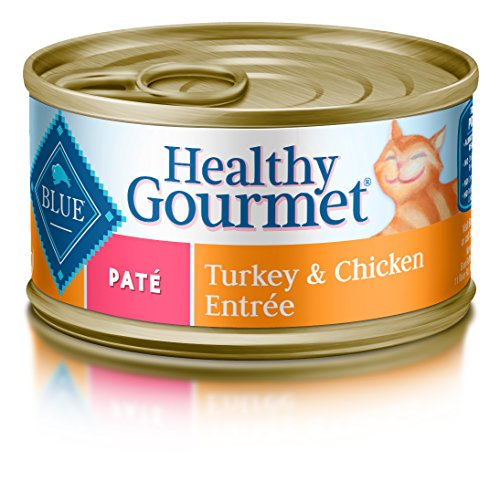 Blue Buffalo Pate Adult Turkey & Chicken Entree Wet Cat Food, 5.5 oz Can, Pack of 24 (Blue Buffalo Canned Cat compare prices)