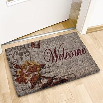 relaxdays 10016777 welcome paillasson paillasson tapis d 39 entr e rectangulaire fibre de coco. Black Bedroom Furniture Sets. Home Design Ideas