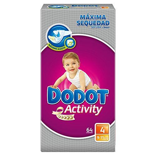 Activity Dodot-Pannolini taglia 4, da 9 a 15 kg, 3 x 64 192 pezzi