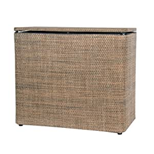 Lamont Home Roxie Bench Hamper Multi Brown Laundry Hampers