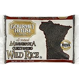 Gourmet House Rice Wild Cultivatd Minnesota, 16 Oz (Pack of 12)