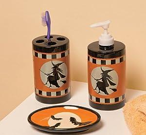 Http Amazon Com Halloween Silhouette Bathroom Accessories Set Dp B00dmojw9g