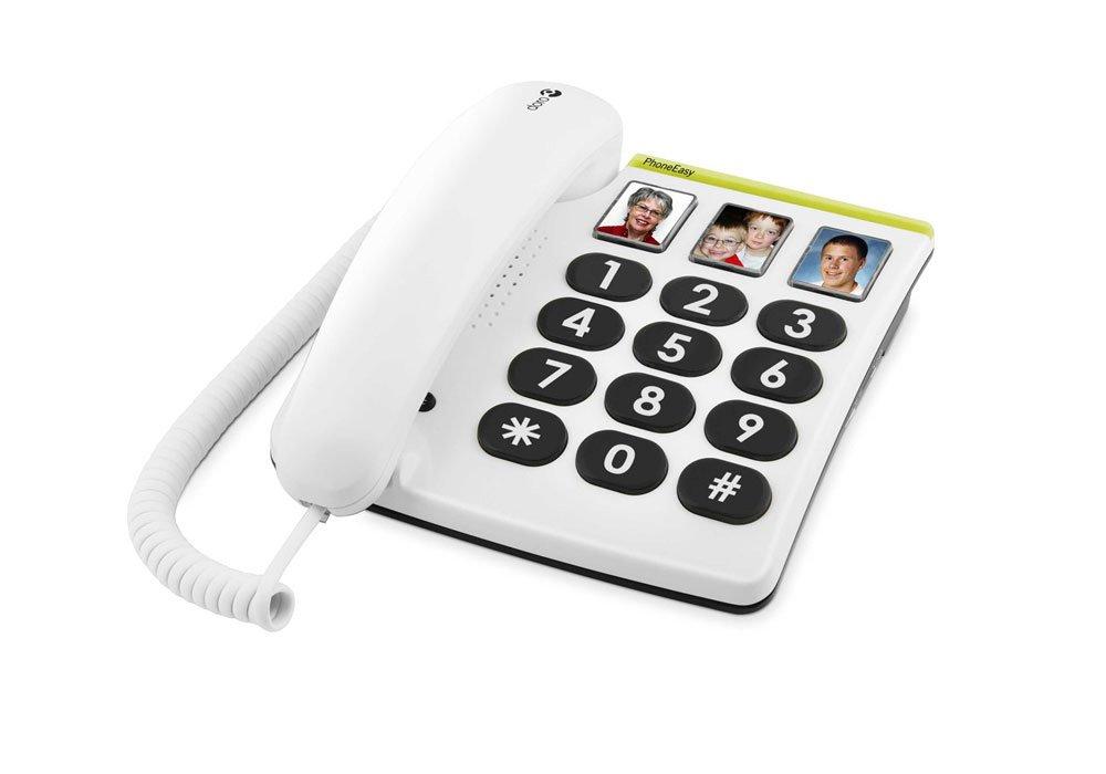 T�l�phone fixe DORO PHONEEASY 331PH BLANC SOLO AVEC REPONDEUR