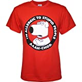 Family Guy Brian Allergic to Stupid People Men's T-Shirt