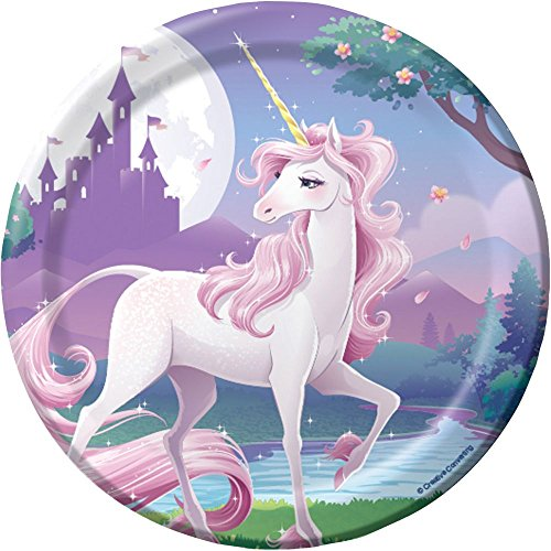 Unicorn Fantasy Dessert Plates 8 Ct - 1