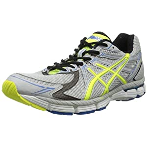 Asics Men's Gt-2000 Running Shoe,Silver/Neon Yellow/Blue,9.5 D US