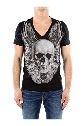 T-Shirt Philipp Plein Herren Baumwolle Schwarz HM34532102 Schwarz S thumbnail