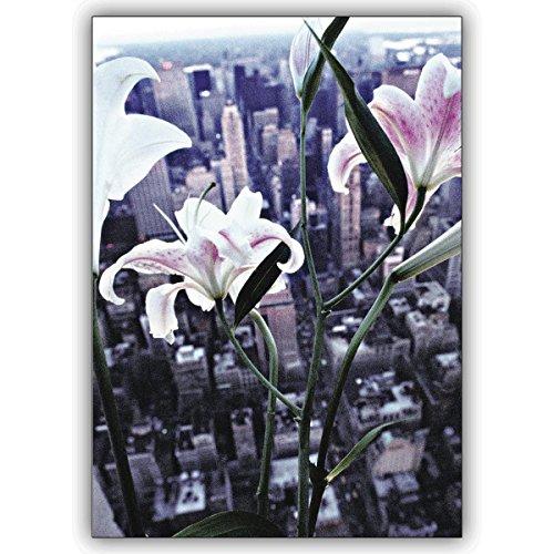 1 Foto Karte: Verschicken Sie elegante Blumengrüße aus New York