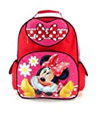 """Disney Minnie Mouse Large 16"""" School Backpack- Bow Fever"""